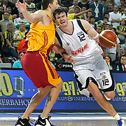 Fenerbahce Ulker's Darjus LAVRINOVIC (R) during their Turkish Basketball league derby match  Fenerbahce Ulker between Galatasaray Cafe Crown at Sinan Erdem Arena in Istanbul, Turkey, Wednesday, April 20, 2011. Photo by TURKPIX