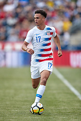 May 28, 2018 - Chester, PA, U.S. - CHESTER, PA - MAY 28: United States defender Antonee Robinson (17) dribbles the ball during the international friendly match between the United States and Bolivia at the Talen Energy Stadium on May 28, 2018 in Chester, Pennsylvania. (Photo by Robin Alam/Icon Sportswire) (Credit Image: © Robin Alam/Icon SMI via ZUMA Press)