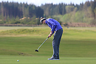 James Gillespie (East Cork) on the 1st green during Round 2 of the Ulster Boys Championship at Donegal Golf Club, Murvagh, Donegal, Co Donegal on Thursday 25th April 2019.<br /> Picture:  Thos Caffrey / www.golffile.ie