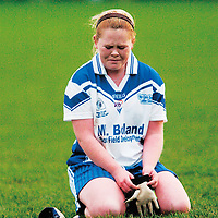 30 November 2007; A dejected Grace Walsh, West Clare Gaels, Clare, after the match. VHI Healthcare All-Ireland Ladies Junior Club Football Championship Final, West Clare Gaels, Clare v Foxrock Cabinteely, Dublin, Toomevarra, Co. Tipperary. Picture credit: Brian Lawless / SPORTSFILE *** NO REPRODUCTION FEE ***