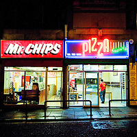 While a lot of Bold Street closes down at night these guys are always open with their neon signs and shop light spilling into the night.