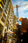 Construction of new apartments/condos at Post Properties in Alexandria, Va. Shot for the 2006 annual report.