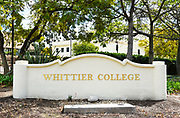 Signage at Whittier College At the Shannon Center