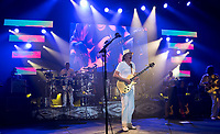 KELOWNA, CANADA - MARCH 8:  Carlos Santana and his band perform on March 8, 2018 at Prospera Place in Kelowna, British Columbia, Canada.  (Photo by Marissa Baecker/Shoot the Breeze)  *** Local Caption ***