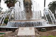 Fountain in Plaza de Espana, Melilla autonomous city state Spanish territory in north Africa, Spain