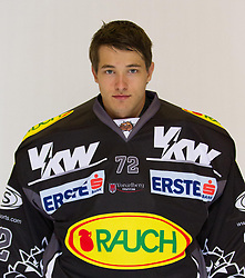 29.08.2012, Messestadion, Dornbirn, AUT, EBEL, Spielerportraits, Dornbirner Eishockey Club, im Bild Andreas Brenkusch, (Dornbirner Eishockey Club, #72)// during Dornbirner Eishockey Club Player Portrait Session at the Messestadion, Dornbirn, Austria on 2012/08/29, EXPA Pictures © 2012, PhotoCredit: EXPA/ Peter Rinderer