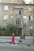Europe, Slovakia, capitol city - Bratislava.pre war buildings in need of renovation shows the old Bratislava of the communist era...