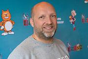 Persdag animatiefilm, Heinz - adults only in Brouwerij 't IJ, Amsterdam.<br /> <br /> Op de foto:  Ruben van der Meer