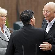 NLD/Bilthoven/20120618 - Uitvaart Will Hoebee, Ciska Peters en partner Pim ter Linde