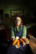Lady with corn, Brasov, Romania