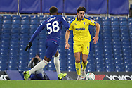 AFC Wimbledon defender Will Nightingale (5) taking on c58\ during the EFL Trophy match between U21 Chelsea and AFC Wimbledon at Stamford Bridge, London, England on 4 December 2018.