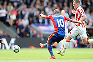 GOAL - Andros Townsend of Crystal Palace shoots and scores from outside the box for his sides 4th  goal to make it 4-0. Premier League match, Crystal Palace v Stoke city at Selhurst Park in London on Sunday 18th Sept 2016. pic by John Patrick Fletcher, Andrew Orchard sports photography.