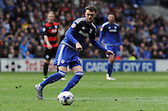 Cardiff City's Scott Malone in action. Skybet football league championship match, Cardiff city v Queens Park Rangers at the Cardiff city stadium in Cardiff, South Wales on Saturday 16th April 2016.<br /> pic by Carl Robertson, Andrew Orchard sports photography.