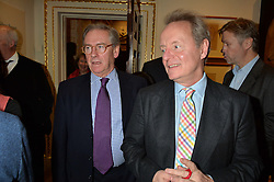 LONDON, ENGLAND 28 NOVEMBER 2016: Left to right, Philip Astley-Jones, John Lloyd Morgan at a reception to celebrate the publication of The Sovereign Artist by Christopher Le Brun and Wolf Burchard held at the Royal Academy of Art, Piccadilly, London, England. 28 November 2016.