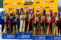Skiskyting<br /> VM 2004<br /> Oberhof - Tyskland<br /> Foto: Digitalsport<br /> Norway Only<br /> <br /> 4 x 7,5 kilometer stafett menn<br /> <br /> Ole Einar Bjørndalen, Lars Berger, Egil Gjelland, Halvard Hanevold (NOR), Frank Luck, Ricco Gross, Sven Fischer, Michael Greis (GER), Ferreol Cannard, Julien Robert, Raphael Poiree, Vincent Defrasne (FRA)