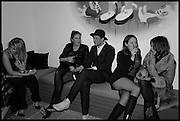 AURORE OGDEN; REBECCA GUINNESS; HENRY HUDSON;  DANIELLE EMERSON; BROOKE MCCORD, Julia Peyton-Jones, Hans Ulrich Obrist and Coach host the Serpentine Future Contemporaries Party. Serpentine Sackler Gallery. Kensington Gdns. London. 21 February 2015