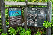 Interpretive display at the Four Seasons Hualalai, Kohala Coast, Hawaii USA