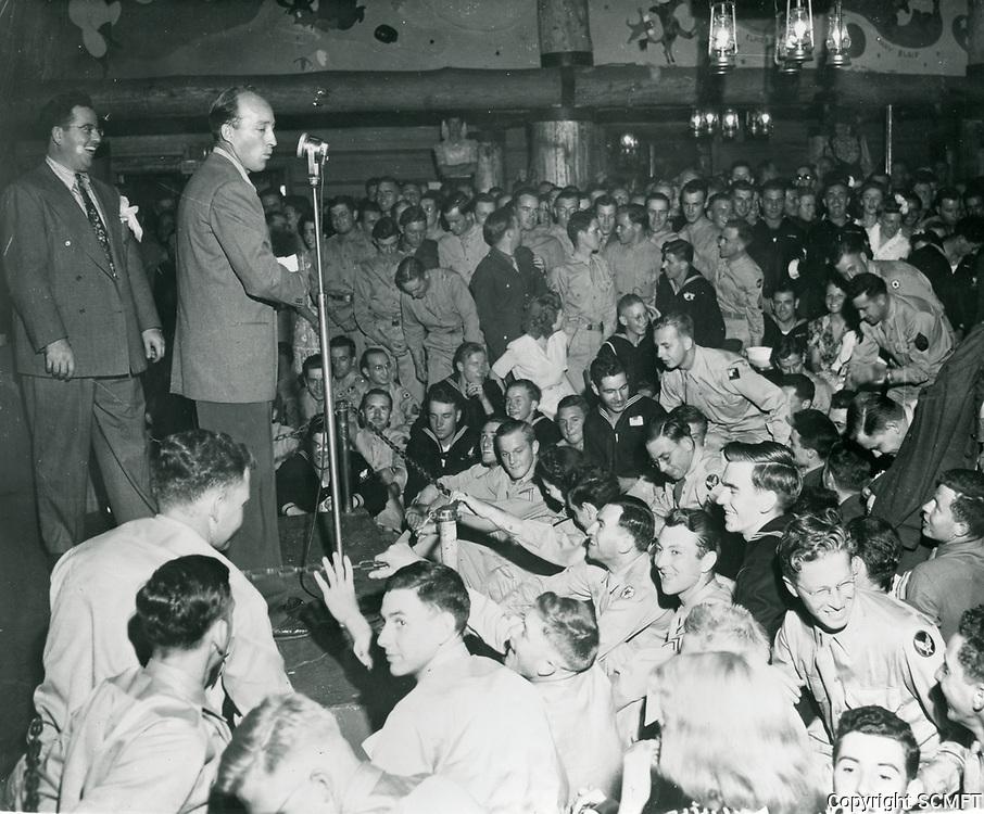1944 Bing Crosby At The Hollywood Canteen