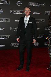 Celebrity arrivals at the world premiere of Walt Disney Pictures and Lucasfilm's 'Rogue One: A Star Wars Story' at the Pantages Theatre in Hollywood, California. 11 Dec 2016 Pictured: Chris Hardwick. Photo credit: @parisamichelle / MEGA TheMegaAgency.com +1 888 505 6342