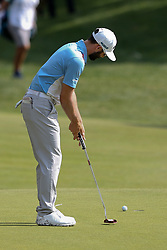 June 21, 2018 - Cromwell, Connecticut, United States - CROMWELL, CT-JUNE 21: Adam Hadwin putts the 15th green during the first round of the Travelers Championship on June 21, 2018 at TPC River Highlands in Cromwell, Connecticut. (Credit Image: © Debby Wong via ZUMA Wire)