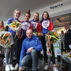 30-09-2017: Wielrennen: Nederlands kampioenschap clubteams: Dronten  <br />Brons voor de WV de Noordwesthoek uit Genemuiden