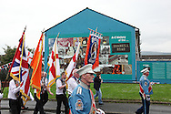 Loyalists march through Belfast on the anniversary of William of Orange's victory at the Battle of the Boyne UK, 12th July 2011