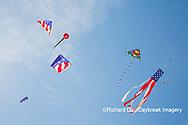63495-02707 Kites flying at Flagler Beach Flagler Beach, FL