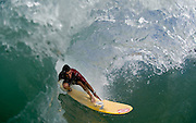 May 4 2011: Dane Pioli in the barrel at Duranbah Beach on the NSW and QLD border. Photo bt Matt Roberts