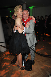 HANNAH WADDINGHAM and CHRISTOPHER BIGGINS at the press night of the new Andrew Lloyd Webber  musical 'The Wizard of Oz' at The London Palladium, Argylle Street, London on 1st March 2011 followed by an aftershow party at One Marylebone, London NW1