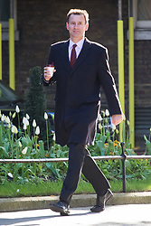 Downing Street, London, April 25th 2017. Health Secretary Jeremy Hunt attends the weekly cabinet meeting at 10 Downing Street in London. Credit: ©Paul Davey