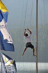 Hanging around at the St.Moritz Match Race. Photo:Chris Davies/WMRT