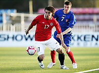 Fotball , 28. april 2011 , U19 , WC. qual.<br /> Norge - Moldova<br /> Norway -Moldova 4-0<br /> <br /> Alexander Hassum  , Norge<br /> Vhdim Rata , Moldova