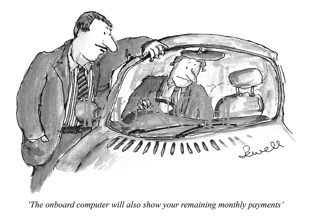 'The onboard computer will also show your remaining monthly payments'