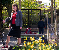Pictured: Maree Todd<br /> Minister for Childcare and Early Years Maree Todd and Councillor Gail Macgregor  visited Cameron House nursery school in Edinburgh today to see the Early Learning Childcare (ELC) provision in action<br /> <br /> Ger Harley | EEm 1 May 2018