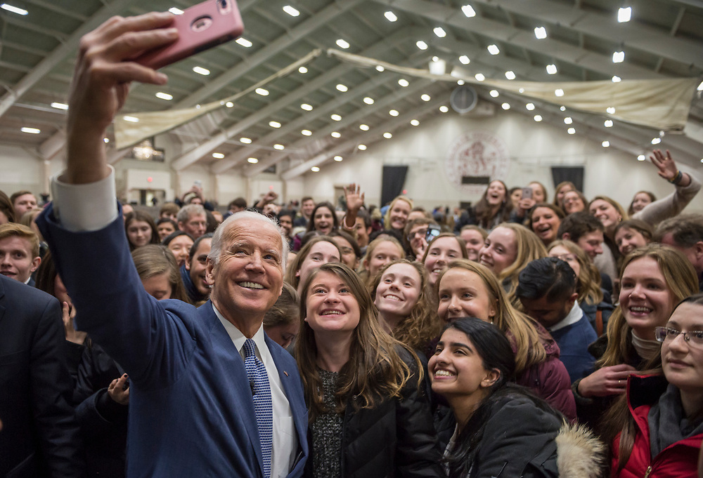 Mark DiOrio / Colgate University<br /> Vice President Joe Biden visits Colgate University as a guest speaker during the Kerschner Family Series Global Leaders, Mar. 24, 2017 in Hamilton.