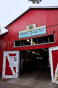 Palmetto Carriage barn in Charleston, SC. Palmetto is one of several carriage tour companies providing horse and mule pulled carriage tours of the historic section of Charleston, SC.