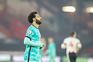 Portrait of Liverpool forward Mohamed Salah (11) during the Premier League match between Sheffield United and Liverpool at Bramall Lane, Sheffield, England on 28 February 2021.