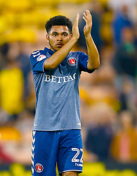 Charlton Athletic's Jay Dasilva applauds the fans after the final whistle