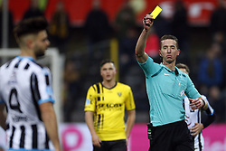 Referee Christiaan Bax during the Dutch Eredivisie match between VVV Venlo and Heracles Almelo at Seacon stadium De Koel on December 24, 2017 in Venlo, The Netherlands
