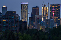 Calgary Skyline from Roxboro Park, Morning