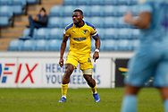 Wimbledon defender Adedeji Oshilaja (4)  during the EFL Sky Bet League 1 match between Coventry City and AFC Wimbledon at the Ricoh Arena, Coventry, England on 12 January 2019.