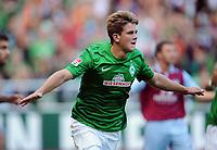 Fotball<br /> Tyskland<br /> 11.08.2012<br /> Foto: Witters/Digitalsport<br /> NORWAY ONLY<br /> <br /> 1:0 Jubel Niclas Fuellkrug (Werder)<br /> Fussball, Testspiel SV Werder Bremen - Aston Villa