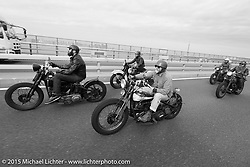 Ride with Freewheelers And Company shop friends after Mooneyes. Tokyo, Japan. December 8, 2015.  Photography ©2015 Michael Lichter.