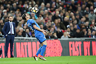 Italy defender Mattia De Sciglio (2) chests down the ball during the Friendly match between England and Italy at Wembley Stadium, London, England on 27 March 2018. Picture by Toyin Oshodi.