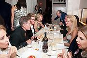 CALVIN KLEIN; BLAINE TRUMP, Aby Rosen & Samantha Boardman Dinner at Solea,Collins ave,  Miami Beach. 2 December 2010. -DO NOT ARCHIVE-© Copyright Photograph by Dafydd Jones. 248 Clapham Rd. London SW9 0PZ. Tel 0207 820 0771. www.dafjones.com.