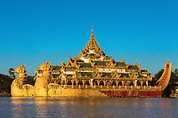 Karaweik Palace Restaurant at Yangon (Rangoon) in Myanmar (Burma)