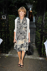 VIRGINIA FRASER leaving a summer party hosted by Lady Annabel Goldsmith at her home Ormeley Lodge, Ham Gate, Richmond on 13th July 2010.
