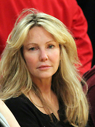 February 26, 2018 - Los Angeles, California, United States of America - Monday February 26, 2018. Heather Locklear arrested for alleged domestic violence at her Thousands Oaks California home. FILE PHOTO: Actress Heather Locklear attends the game between the Los Angeles Lakers and the Phoenix at the Staples Center in Los Angeles, on Tuesday, January, 10, 2012.  BURT HARRIS/PI (Credit Image: © Prensa Internacional via ZUMA Wire)