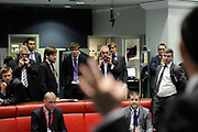 Traders and clerks at work at the London Metal Exchange on July 22nd 2011 in London, United Kingdom. Benchmark copper on the London Metal Exchange traded at $9,719 a tonne in official rings from $9,685 a tonne on Thursday, when the metal used in power and construction fell to its lowest level this week.