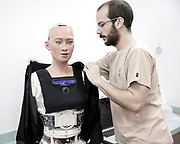 Making of Sophia in the Hanson Robotic Lab, Dec 2017SingularityNetis currently working on creating an open source decentralized AI platform running on theblockchain. This network of AIs will provide AI as a service in an unprecedentedly diverse and open way.The first complex AI system to be realized on theSingularityNETwill be an AI brain forSophia Hanson— the most sophisticated humanoid robot ever built. Saudi Arabia granted the status of Citizen to Sophia, that became the first robot to be recognized as a citizen.The new version of Sophia's mind, currently under development bySingularityNETin conjunction with Hong Kong firm Hanson Robotics, will be a core node of theblockchain. Her intelligence will be plugged in the network for everyone's benefit and will also receive input and wisdom from everyone's algorithms. Sophia's mind will be constantly fed with new content fromSingularityNET, while at the same time helping to power the network with its human-like intelligence.<br /> @Giulio Di Sturco